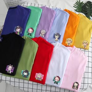 Demon Slayer T shirt da uomo Hip Hop giapponese Anime Kimetsu No Yaiba T-shirt Kawaii del fumetto del cotone Tanjiro Kamado Graphic T-shirt maschile