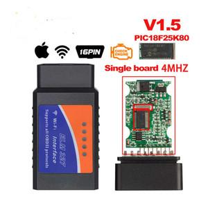 Auto Diagnostic Tool V1.5 ELM327 Bluetooth Wifi OBD2 V1.5 Mini Elm 327 Bluetooth PIC18F25K80 Chip OBDII pour Android IOS de Windows