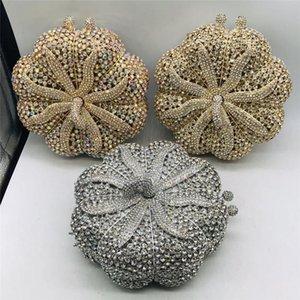 For Handbags Handle Luxury Women Bag Crystal Xkhoi Evening Wedding&Party Elegant Bridal With Chain Wedding Purse Shoulder Xvhnu