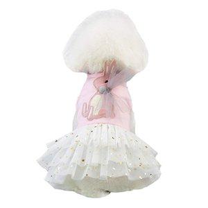 Abito Pet, simpatico coniglio Decor Cane Tutu principessa cerimonia nuziale Skirt Piccolo Cane vestiti della ragazza morbido cotone abbigliamento costume per Puppy