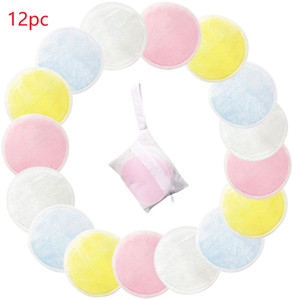 8cm 12pcs Bamboo Cotton Soft Reusable Skin Care Face Wipes Washable Deep Cleansing Cosmetics Tool Round Makeup Remover Pad