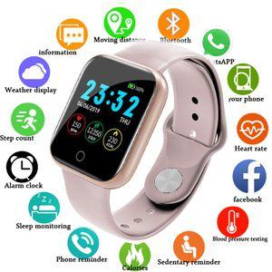 I5 Apple İzle için Pedometre Müzik Kontrolü Birden Çok Aramalar Kalp Hızı Spor Smartwatch Erkekler Kadınlar Android IOS VS B57 Akıllı İzle