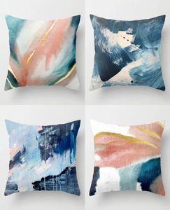 """NOVA Almofada pintura a óleo abstrata Tampa Nordic Estilo fronha Sofá decorativa Almofadas de Natal Pillow 18"""""""