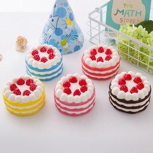 Réaliste Mignon lent Comfotable Insurrection et unique douce parfumée Pu lente Squeezing Strawberry Cake