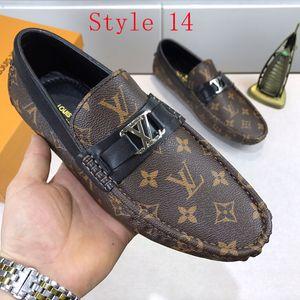 mens luxo de moda vestir sapatos impressão de couro liso sapatos formais Peas shoess ocasional tênis desporto formação tamanho 38-45