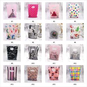 Plastik Saplı Bag Packaging Kolları 15x20cm Düğün Hediye Kalın Butik Hediyelik Alışveriş sayesinde fazla Desen Takı Plastik Poşet