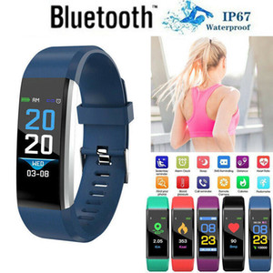 Hirigin 2019 Smart Bracciale Heart Rate Monitor Sangue Step Counter Fitness braccialetti di vigilanza Tracker