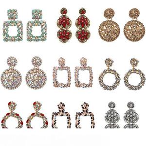 Géométrique Boucles d'oreilles meilleure dame mode ZA résine Boucles d'oreilles pendantes Femmes Mariage Luxe Bijoux Boho Boucles d'oreilles élégantes Déclaration Brillant Dangle