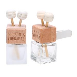 Botella de perfume del ambientador de aire del coche Salida de aire de Clip frasco de cristal para los aceites esenciales de perfume de automoción coche-Botella vacía