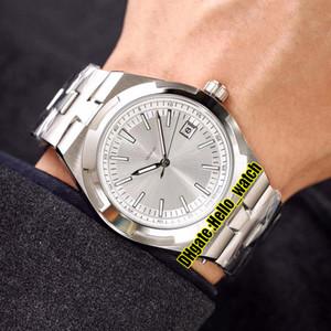 Cheap New Overseas 4500V / 110A-B126 Dial blanco A2813 Reloj automático para hombre Fecha 316L Pulsera de acero inoxidable Relojes de alta calidad 7 colores