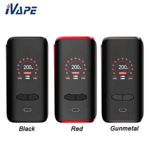 Augvape VX200 200W TC Box Mod with VW  VV  Bypass  TC Mode 1.3 Inch Colorful Screen Powered by Dual 18650 Batteries Excluded