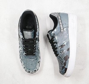 1 Low Designer Shoes City Of Dreams Chicago Running Shoes Snake Pattern Camouflage Beast Style Pattern Stitching 3M Reflective