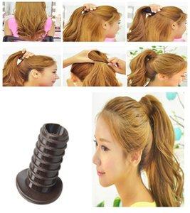 Mode-elegante Frauen-Dame-Mädchen-Pferdeschwanz erhöhen Artifact Korea Braiders Fluffy Hair Styling-Tool erhöhen