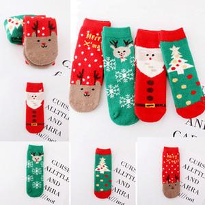 Mais recente Moda Mulheres Sock 2019 inverno quente Coral macio Fleece Meias Casual Natal presente dos desenhos animados Socks rena de Santa