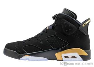 Versão 2020 Authentic Air 6 DMP Black / Metallic Gold Style Code CT4954-007 6s Men Basketball Retro Sneakers With Original Box