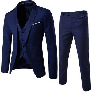 CALOFE Suit + Vest + Pants 3 Pieces Sets Slim Suits Wedding Party Blazers Jacket Men's Business Groomsman Suit Pants Vest Sets C18122501