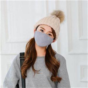 Respiration Masque Valve Hommes Femmes respirateurs Lattice Motif Bouche Mascherine Masques Earloop unisexe gros 7 5JD H1