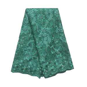 Tulle French Lace Fabrics For Wedding New 2020 African Lace Fabric Materials Green Nigerian Lace Fabric With Stones