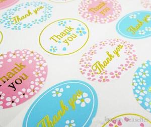 Grazie favori di nozze ospiti regali sigillo adesivo da imballaggio del regalo oro etichette di carta di imballaggio etichette decorazioni della festa nuziale di tenuta