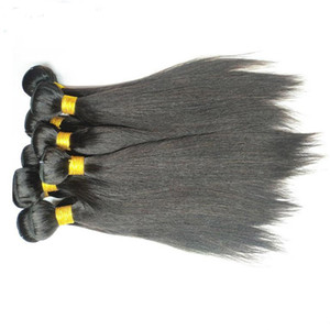 Factory Wholesale 8a Brazilian Straight Human Hair Extensions Weaves 1Kg 10 Bundles 100% Real Human Hair Material Made Natural Color