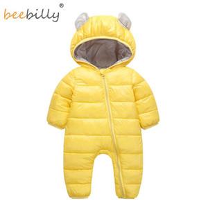 2018 Baby Barboteuses hiver pour bébé nouveau-né Jumpsuit Habineige garçons Porter neige chaude Manteaux 100% coton layette