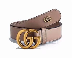 035 ceintures de mode design hommes femmes ceinture Big lisse boucle de ceinture en cuir véritable homme femme Ceintures de luxe 3.8cm noir largeur