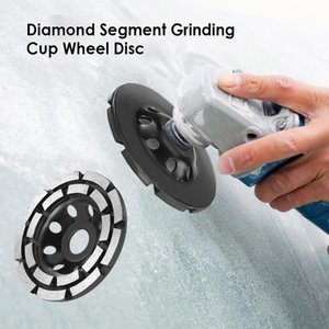 115 125 180mm Diamond Grinding Disc Double Row Stone Brick Tile Grinder Diamond Segment Grinding Cup Wheel Disc Power Tools