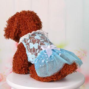 Pet Köpek Yaz dibe Dantel Bow Baskı Elbise Giyim Pet Kedi Giydirme Karikatür Hayvan Köpek Hoodie Coat Kış Köpek Falda De Mascota419