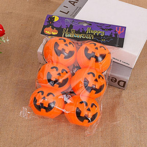 6pcs Halloween Party Props plastique citrouille seau Trick Treat cosplay décoration en plastique Pouch Holder Halloween Décoration