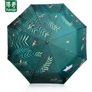 Креативный шаблон (Waterfront воды Willow) 3 Складные женщины зонтик двойной Утолщение Зонт зонтик дождя женщин зонтики