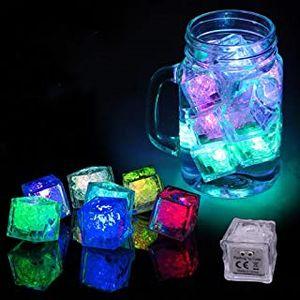 DHL leuchten leuchten Eiswürfel cuo Modell im Dunkeln Eiswürfel mit gemischten Farbbecher Modi Genießen Multiple