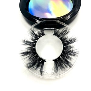 Mink Lashes 3D Silk Protein Mink False Eyelashes Long Lasting Lashes Natural Mink Eyelashes Round Box Packaging R0015