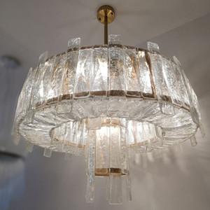 Lustre en cristal moderne en verre Crack Light Art Salon Décoration Lustre Hôtel design LED MYY