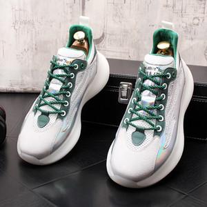 mesh casual shoes breathable Men's loafers flats mesh men flats Hip hop fashion platform shoes