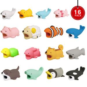 소매 패키지와 케이블 물린 USB 케이블 보호기 보호 커버 와이어 코드 귀여운 동물 디자인 충전 코드 보호
