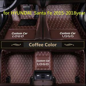 Para HYUNDAI Santa Fe 2015-2018year antideslizante no tóxico pie pad coche pie pad