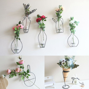 Iron Wall Hanging Vase Shelf Flower Pot Holder Home Storage Rack Decor Display