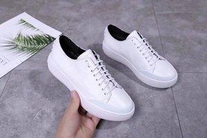 2019 de primavera de encaje nuevo cuero zapatos blancos de encaje frontal y trasera decorativa antideslizante zapatos casuales blancos verticales 09037651