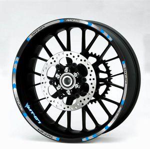 de haute qualité 4 couleur pour décalcomanies de roue de moto YAMAHA MT-07 autocollants réfléchissants jante rayures MT 07 moto MT07