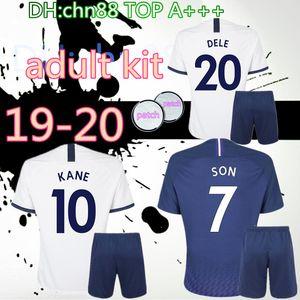 новые 19 20 Шпоры взрослых комплекты дома прочь футбол Джерси 2019 2020 мужчин Tottenhames Кейн Сын Alderweireld Эриксен Деле ЛАМЕЛ ребенок футбол рубашки