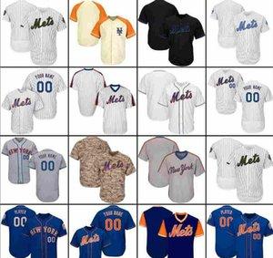 2019 2020 personalizado dos homens azuis Preto newyorkmets Womens Youth Baseball Jerseys Branco Grey Camo costurado qualquer Nome de qualquer número camisas Jersey