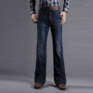 Mens Flared Jeans For Men Boot Cut Leg Fit Jeans Classic Stretch Denim Flare Bootcute Male Fashion Stretch Pants1