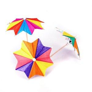 Aprox. 145 piezas de palitos de bebida de cóctel de papel de ocho cuadrados Parasol Umbrella Picks