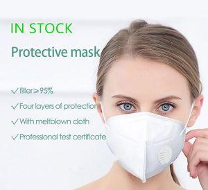 DHL transporte rápido máscara com válvula de segurança máscara protetora máscara PM2.5 Fliter Anti poluição da poeira Earloop cara respirador
