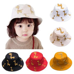 Kids Cartoon letter printed double-sided bucket hat 2020 summer kids sunhat children cap Outdoor UV Protection Sunhat Bucket Capewzd#