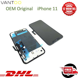 12 Monate Garantie LCD für iphone 11 Original LCD Display für iPhone 11 Noten-Digitizer-Bildschirm Montage Reparatur keine Pixelfehler 100% geprüft
