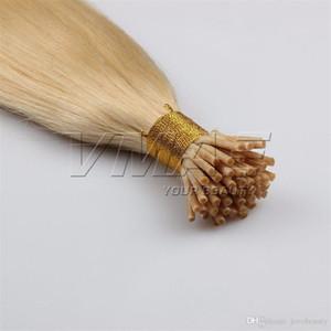 VMAE 1G الأوروبي ستراند 100G الطبيعية براون شقراء مستقيم الكيراتين عصا قبل الاستعبادي أنا تلميح العذراء ريمي الشعر الإنسان