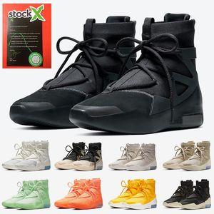 Air Fear Of God 1 Zapatillas de baloncesto para mujer de diseño triple negro vendedor caliente para hombre Cadena de lujo The Question Shoot Around