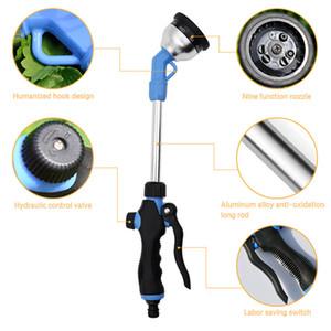 Water Gun Bico Longo Handle pistola de água de alta pressão Irrigação Multi-função Outdoor Gardening pulverizador de água Handheld ajustável