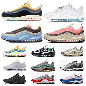 Nike Air Max 97 Chaussures de course pour femme Hommes réfléchissantes argent Prm Tripes noir Air entraîneurs des hommes Have A Nice 97s sport Chaussures de sport Taille 36-45